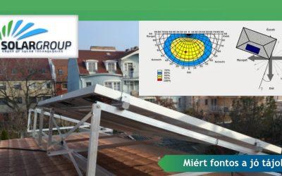 Fontos a napelemek tájolása?