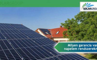 A garancia hogyan működik napelem a Solargroupnál?